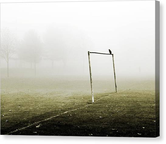 Soccer Canvas Print - Match Abandoned by Mark Rogan
