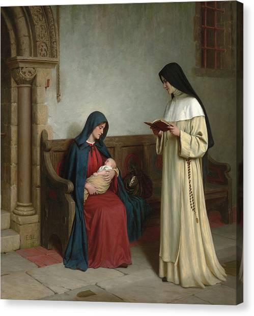 Mercy Canvas Print - Maternity by Edmund Blair Leighton