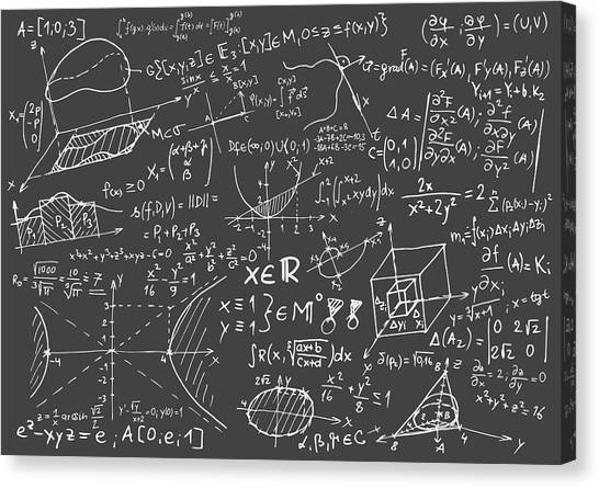 Maths Blackboard Canvas Print