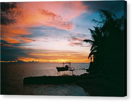 Canvas Print - Matira Point Sunset by Christine Rivers