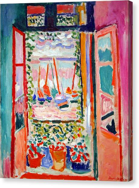 Matisse's Open Window At Collioure Canvas Print
