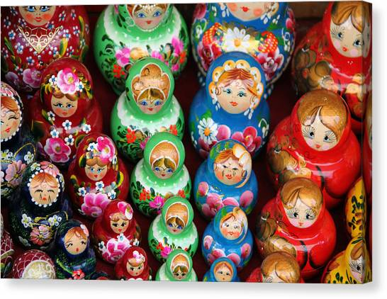 Matryoshka Dolls Canvas Print