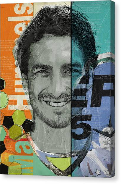 Cristiano Ronaldo Canvas Print - Mats Hummels - B by Corporate Art Task Force
