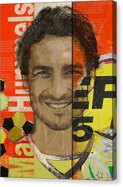 Fifa Canvas Print - Mats Hummels by Corporate Art Task Force