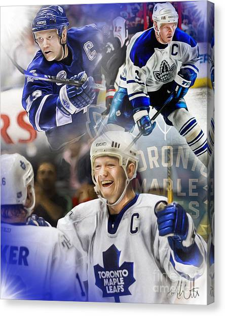 Toronto Maple Leafs Canvas Print - Mats Sundin by Mike Oulton
