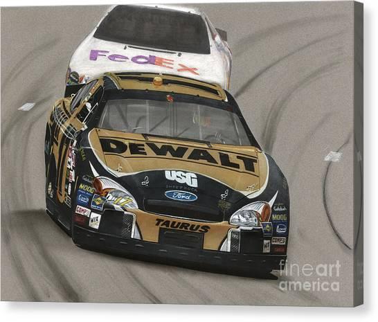 Matt Kenseth Canvas Print - Matt Kenseth Dewalt Ford by Paul Kuras