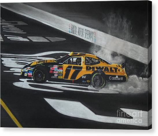 Matt Kenseth Canvas Print - Matt Kenseth Wins At Bristol by Paul Kuras
