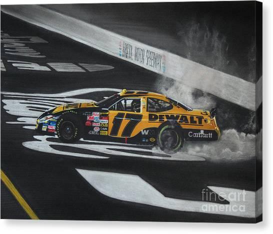 Racecar Drivers Canvas Print - Matt Kenseth Wins At Bristol by Paul Kuras