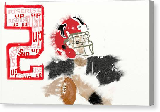 Matt Ryan Canvas Print - Matt Ryan Falcons by Jesse Kirby