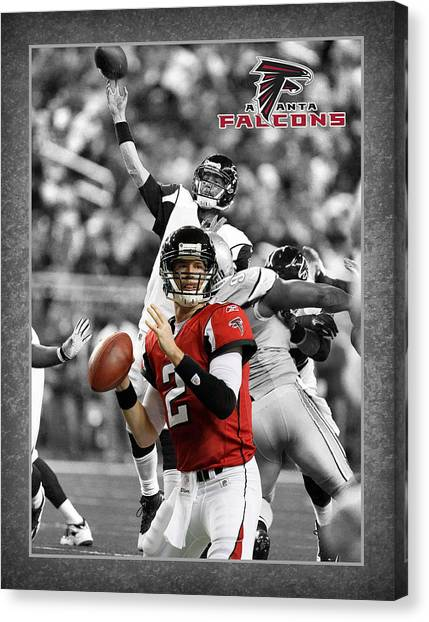 Matt Ryan Canvas Print - Matt Ryan Falcons by Joe Hamilton