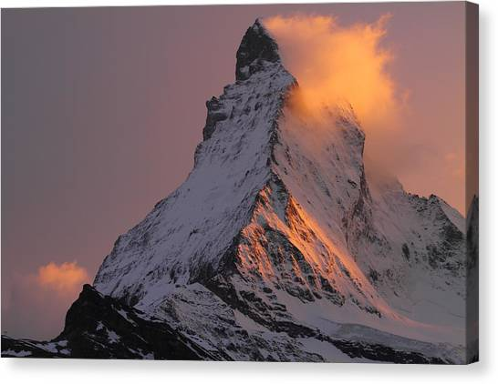 Matterhorn At Sunset Canvas Print