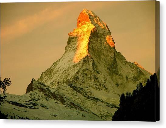 Matterhorn Canvas Print - Matterhorn In Switzerland by Monique's Fine Art