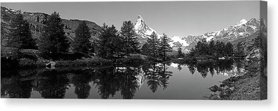 Matterhorn Canvas Print - Matterhorn Reflecting Into Grindjisee by Panoramic Images