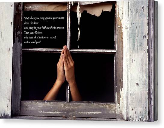 Matthew 6 6 Canvas Print