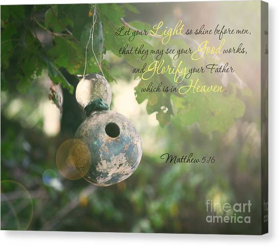 Matthew Verse Canvas Print