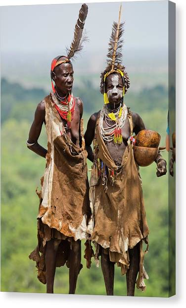 Mature Karo Tribe Women Canvas Print by Photostock-israel