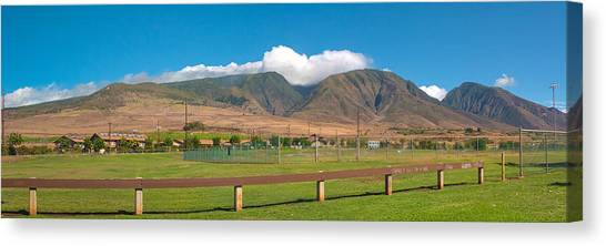 Maui Hawaii Mountains Near Kaanapali   Canvas Print