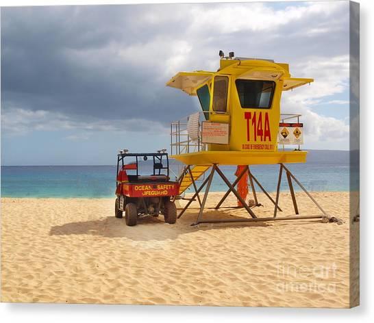 Maui Lifeguard Tower Canvas Print