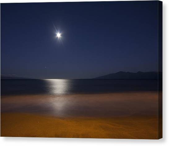 Maui Moonset Canvas Print