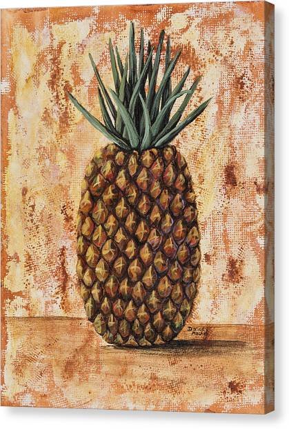 Pineapples Canvas Print - Maui Pineapple by Darice Machel McGuire