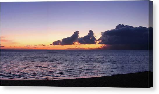 Maui Sunset Panorama Canvas Print
