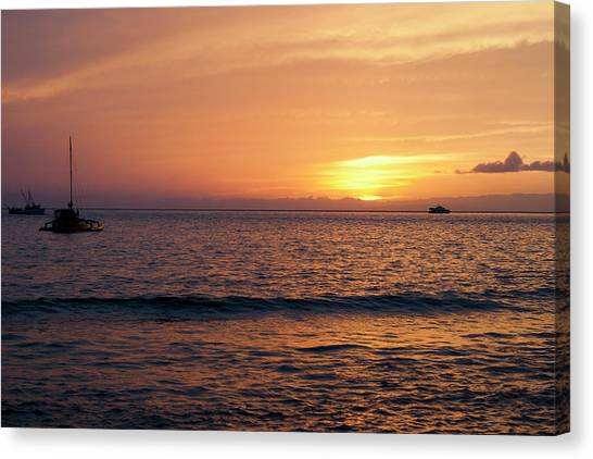 Maui Sunset Canvas Print