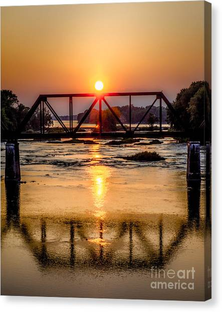 Maumee River At Grand Rapids Ohio Canvas Print