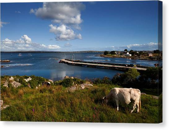 Galway Hooker Canvas Print - Maumeen Quay, Gorumna Island by Panoramic Images