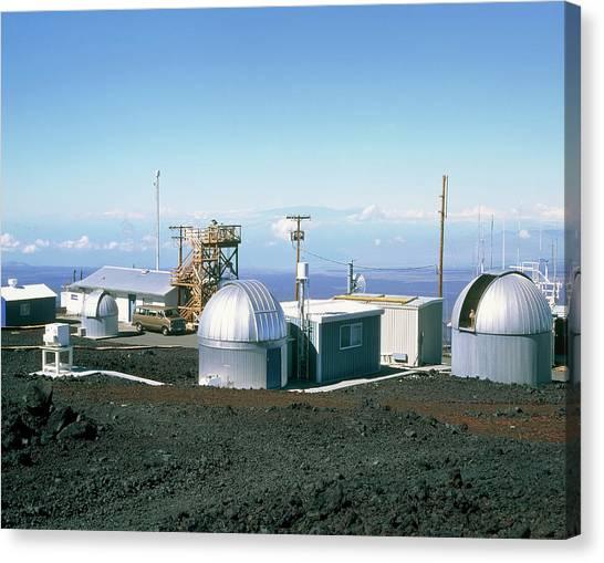 Mauna Loa Canvas Print - Mauna Loa Atmospheric Research Station by Simon Fraser/mauna Loa Observatory/science Photo Library
