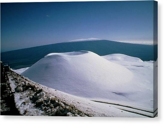 Mauna Loa Canvas Print - Mauna Loa by Dr. Ian Robson/science Photo Library