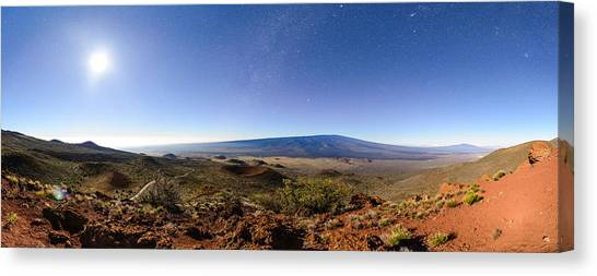 Mauna Loa Moonlight Panorama Canvas Print