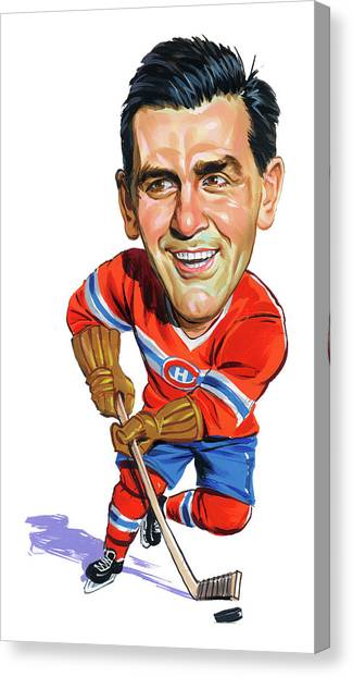 Montreal Canadiens Canvas Print - Maurice Rocket Richard by Art