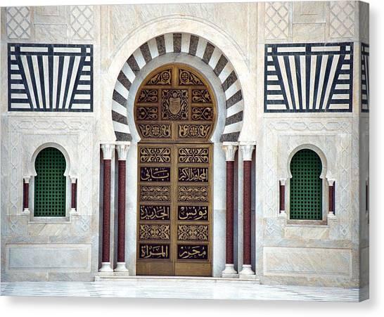 Mausoleum Doors Canvas Print