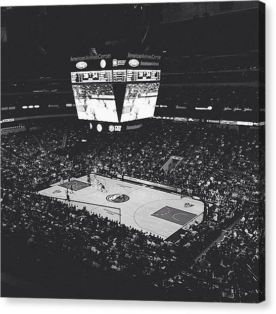 Basketball Teams Canvas Print - Mavericks Game by William Meier