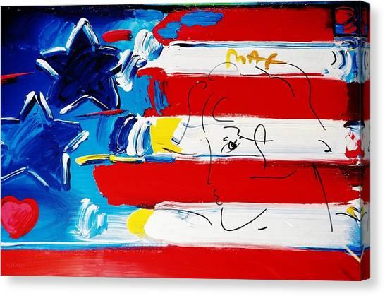 Max Stars And Stripes Canvas Print