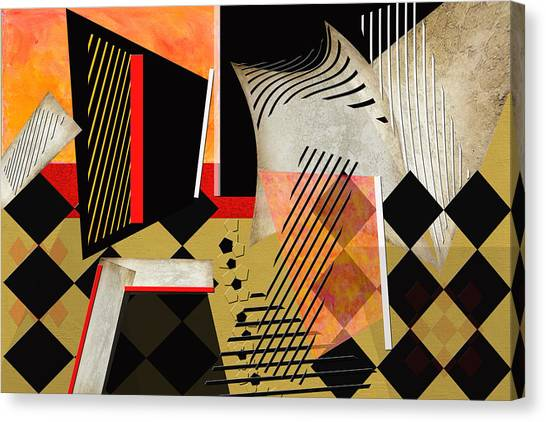 Frank Stella Canvas Print - Maxed Out by Linda Dunn