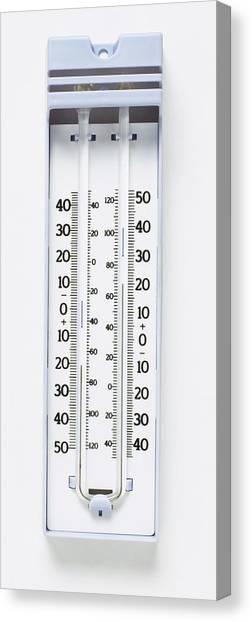 Maximum-minimum Thermometer Canvas Print by Dorling Kindersley/uig