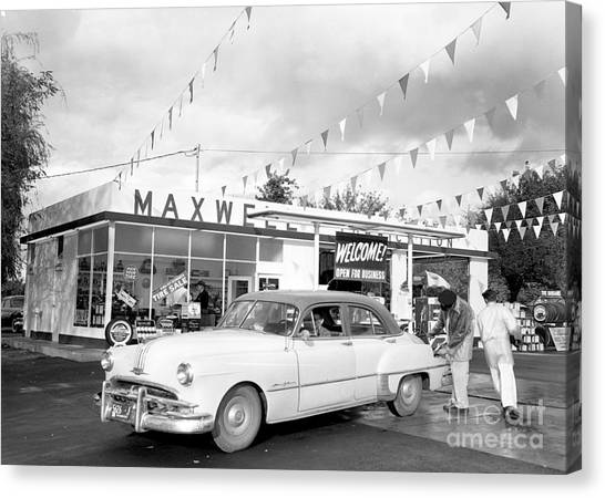 Canvas Print featuring the photograph Maxwell Station Grand Opening by Merle Junk