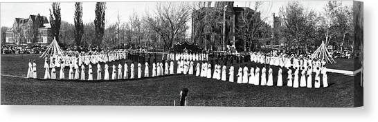 Colorado State University Canvas Print - May Day Fete In Colorado by Underwood Archives