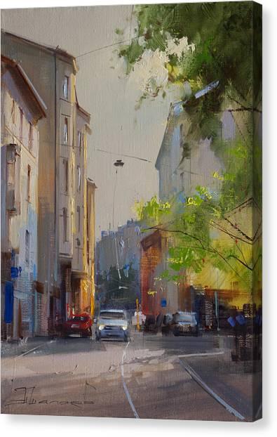 Moscow Canvas Print - May Greens. Plotnikov Lane by Alexey Shalaev