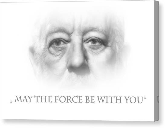 Obi-wan Kenobi Canvas Print - May The Force Be With You by Steve K