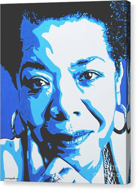 Maya Angelou Canvas Print