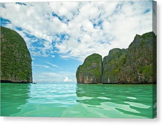 Phi Phi Island Canvas Print - Maya Bay   Koh Phi Phi Leh   Thailand by Xavier Hoenner Photography