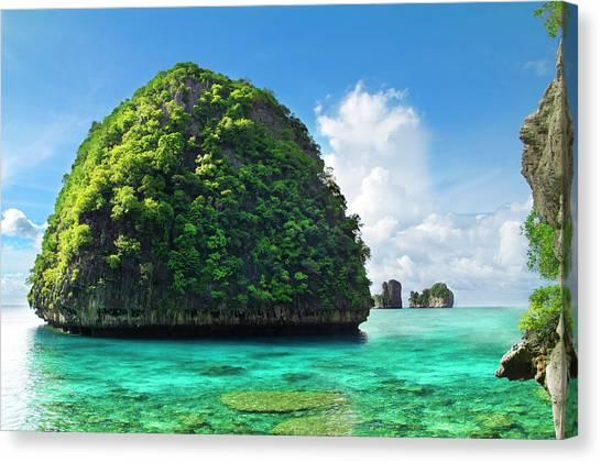 Phi Phi Island Canvas Print - Maya Bay Paradise - Thailand by Vito elefante