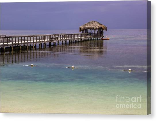 Maya Key Pier At Roatan Canvas Print