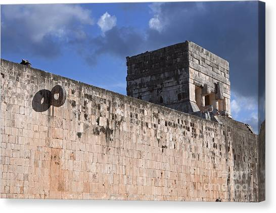 Mayan Ball Court Canvas Print by Charline Xia
