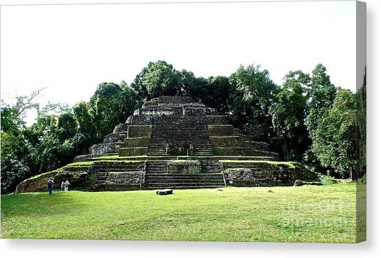 Mayan Temple Belize Lamanai Canvas Print