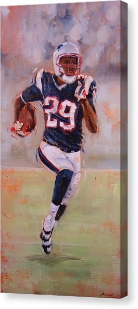 New England Patriots Canvas Print - Maybe Next Year by Laura Lee Zanghetti