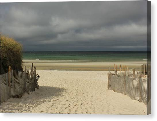 Mayflower Beach Storm Canvas Print