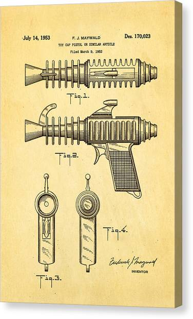Nra Canvas Print - Maywald Toy Cap Gun Patent Art 1953 by Ian Monk